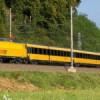 S kočárkem žlutým vlakem Regiojet od firmy Student Agency
