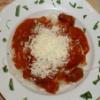 Hovězí kližka v rajčatové omáčce se špagetami